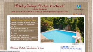 Web page to promote the Holiday Cottages of