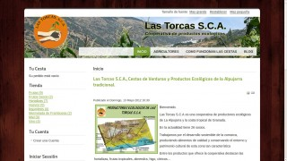 Home page of Las Torcas.