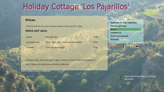 Price list of the holiday cottage