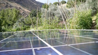 Solar Panels that power the office,